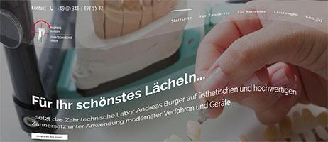 Bild der neuen Website